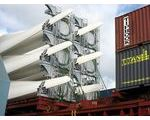 Loading wind mills for Houston, USA